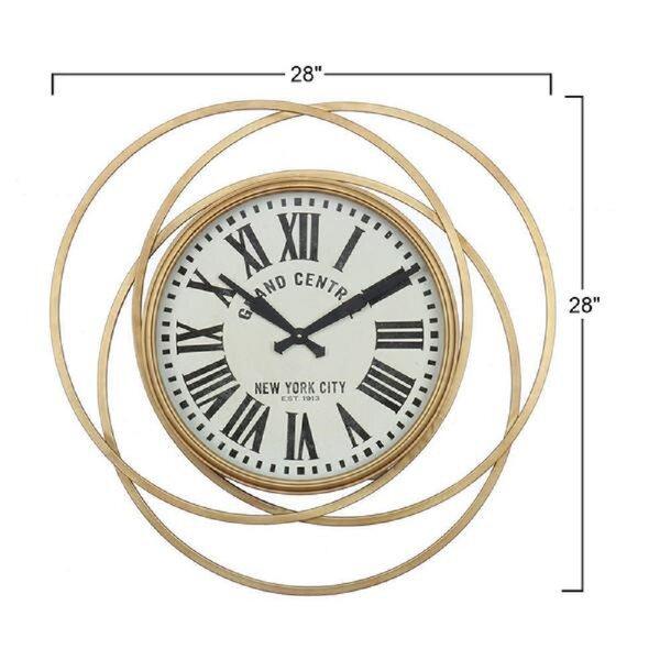 Atouchofdesign Oversized Kensington 28 Wall Clock Wayfair