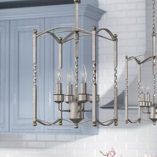 August Grove Ivie 4-Light Foyer Pendant