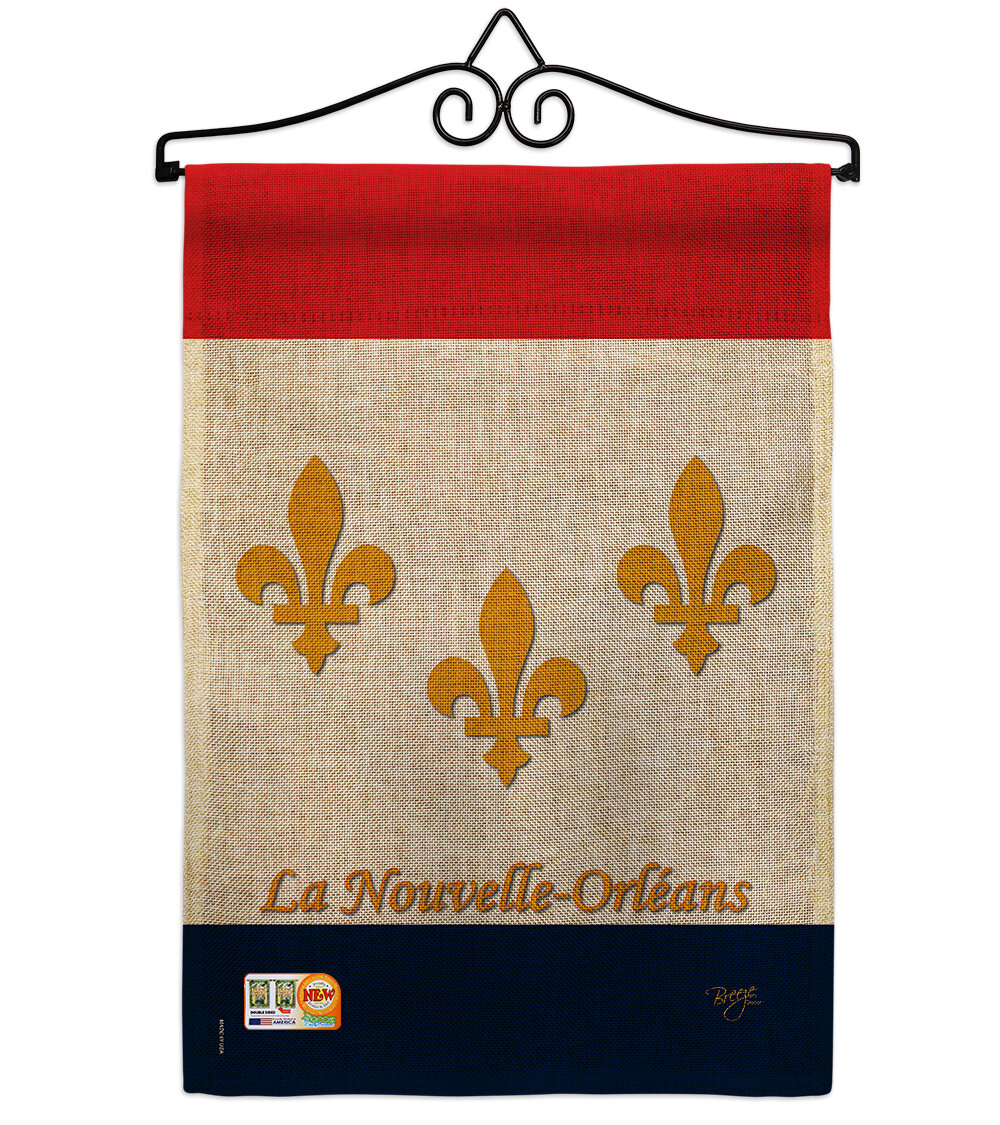 Breeze Decor New Orleans 2 Sided Burlap 19 X 13 In Garden Flag Wayfair