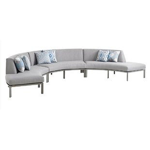 Del Mar Curved Sectional with Cushion by Tommy Bahama Home