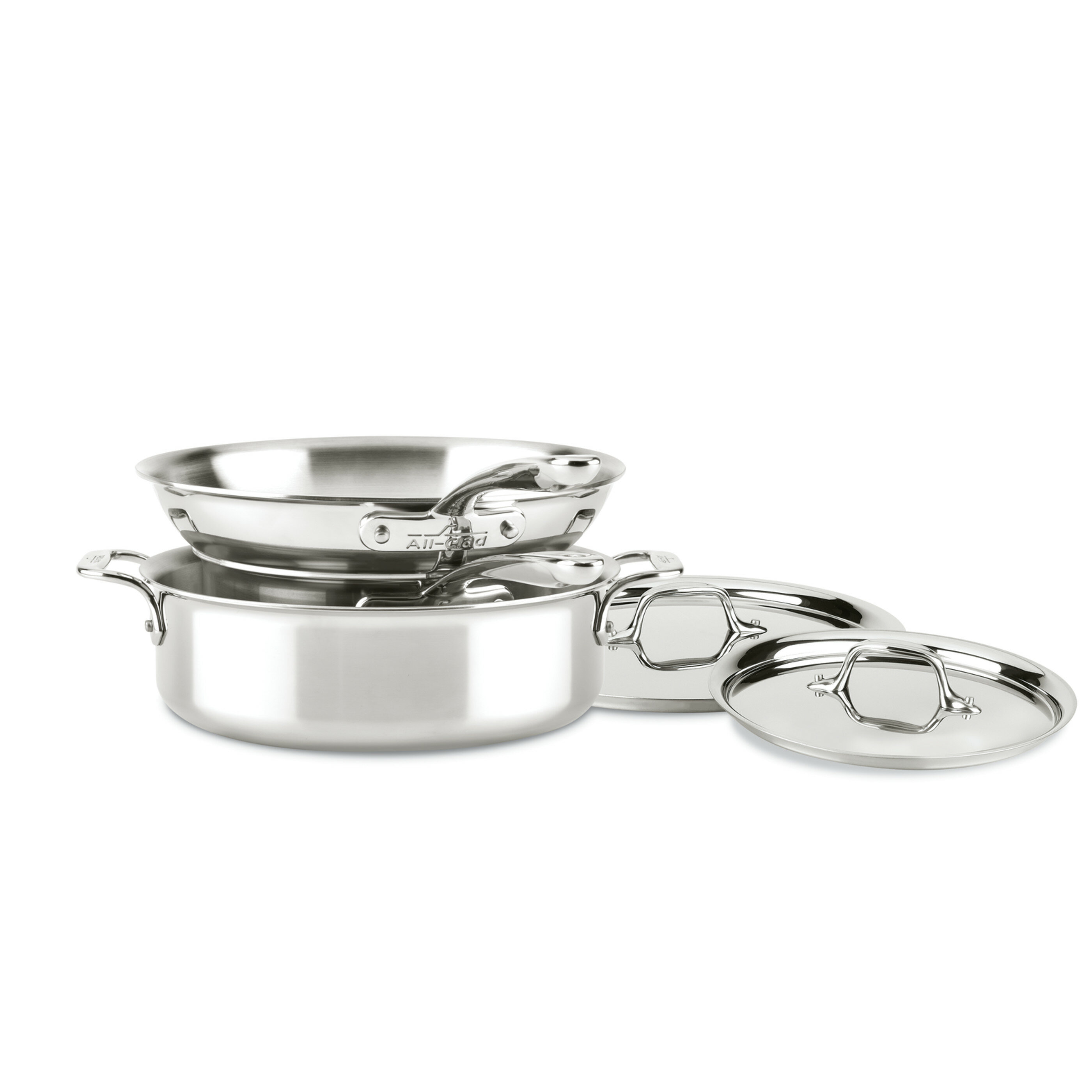 All Clad D3 Compact Stainless 5 Piece