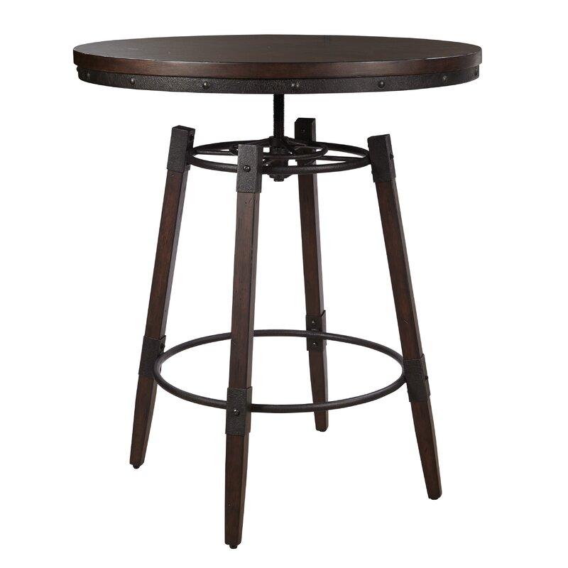 Bingaman Vintage Adjule Height Bar Table