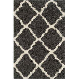 Charmain Dark Flokati Gray/Ivory Area Rug by Willa Arlo Interiors