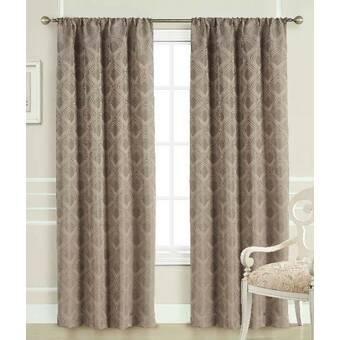 Canora Grey Shurtleff Jacquard Geometric Room Darkening Thermal Rod Pocket Curtain Panels Reviews Wayfair