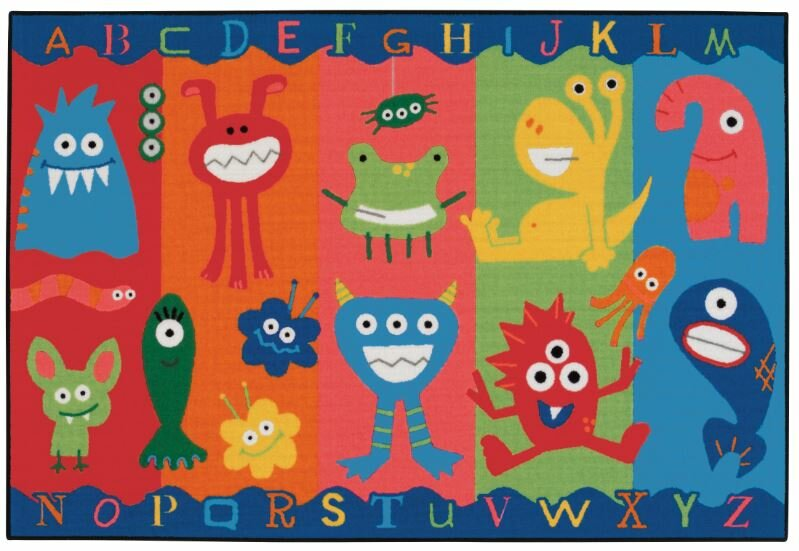 Perfect Alphabet Monsters Kids Area Rug