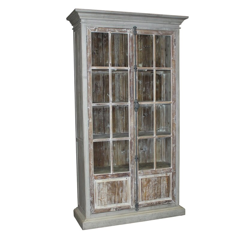 Schoonover French Door Vitrine China Cabinet