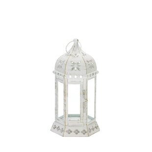 Floral Glass/Metal Lantern by Ophelia & Co.