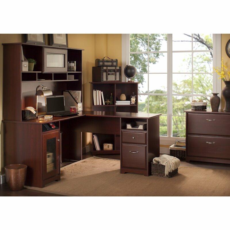 Red Barrel Studio Hillsdale L-Shape Executive Desk Office Suite ...