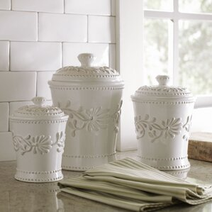 Newport 3 Piece Kitchen Canister Set