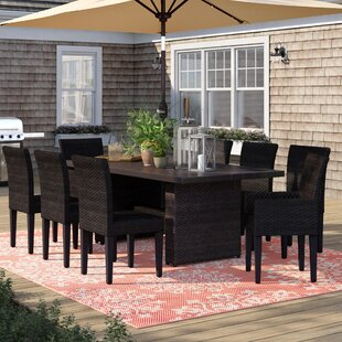 Tegan 9 Piece Outdoor Patio Dining Set with Cushions