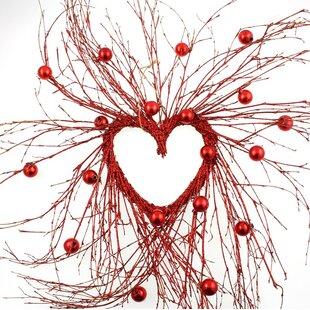 Artificial Heart 50cm Twig Wreath Image