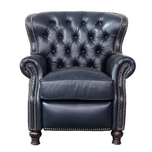 Tavion Leather Manual Recliner by Three Posts #2
