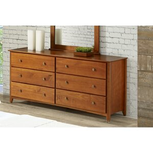 Axelrod 6 Drawer Double Dresser by Red Barrel Studio