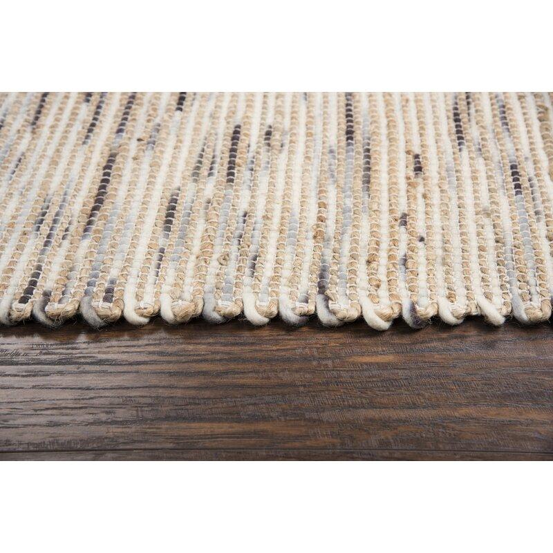 Highland Dunes Holler Abstract Hand Woven Wool Beige Area Rug Wayfair Ca