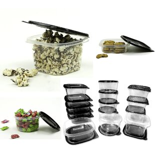 Plastic 15 Container Food Storage Set