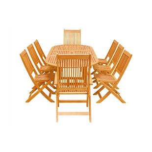 Columbia 9-Piece Dining Set ByRosecliff Heights