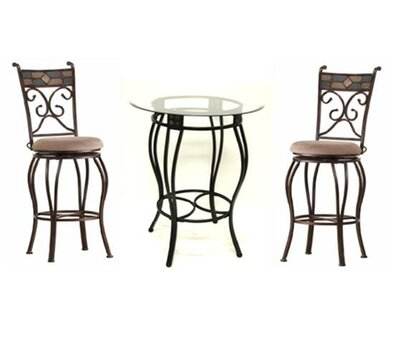 Silvester 3 Piece Beau Pub Table Set Darby Home Co