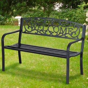 Serafin Steel Bench By Sol 72 Outdoor