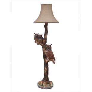 Price Check Risinger Owl Family 65.75 Floor Lamp By Loon Peak