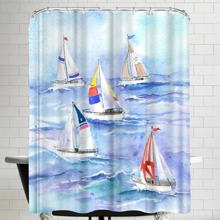 Yachts Single Shower Curtain