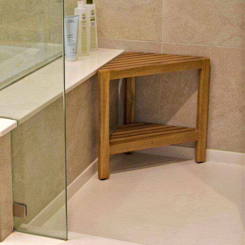 Asta Furniture, Inc. Aris Solid Teak Free Standing Corner Shower ...