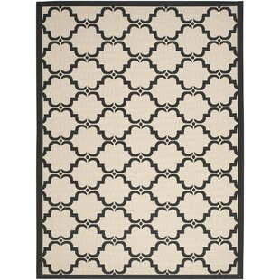 Pogue Tile Beige/Black Area Rug