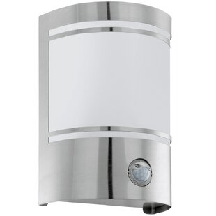 Demelza 1 Light Outdoor Flush Mount With Motion Sensor By Metro Lane