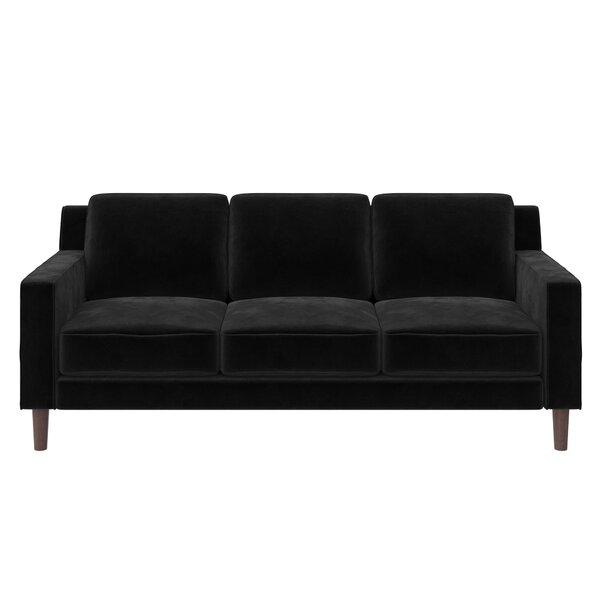 Corrigan Studio Linney 77 Wide Velvet Square Arm Sofa Reviews Wayfair