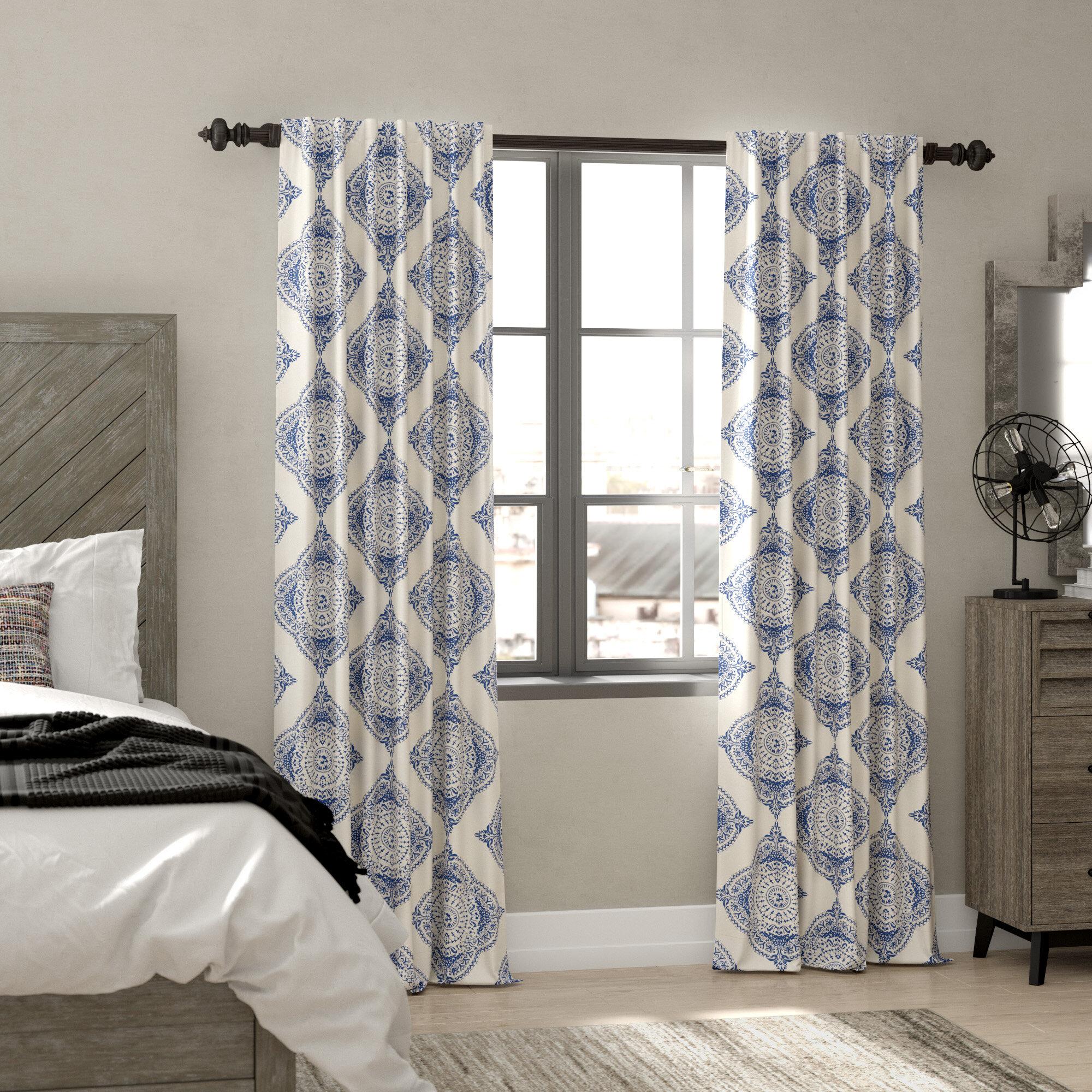 Trent Austin Design Wyndmoor Geometric Room Darkening Rod Pocket Single Curtain Panel Reviews Wayfair
