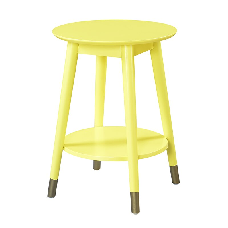 Turn on the Brights  Makenna End Table Color: Yellow