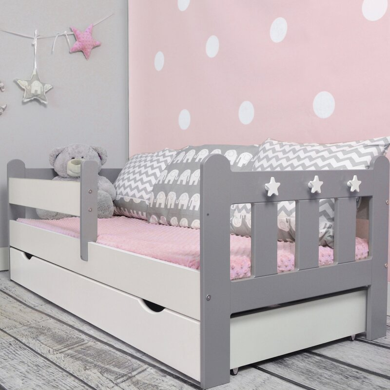 m bel concept kinderbett clata mit matratze und schublade. Black Bedroom Furniture Sets. Home Design Ideas