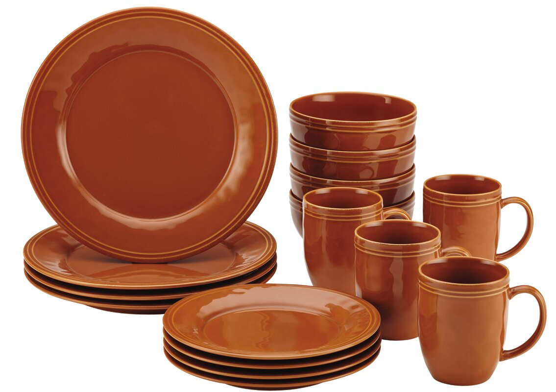 Rachael Ray Cucina 16 Piece Dinnerware Set, Service for 4 ...