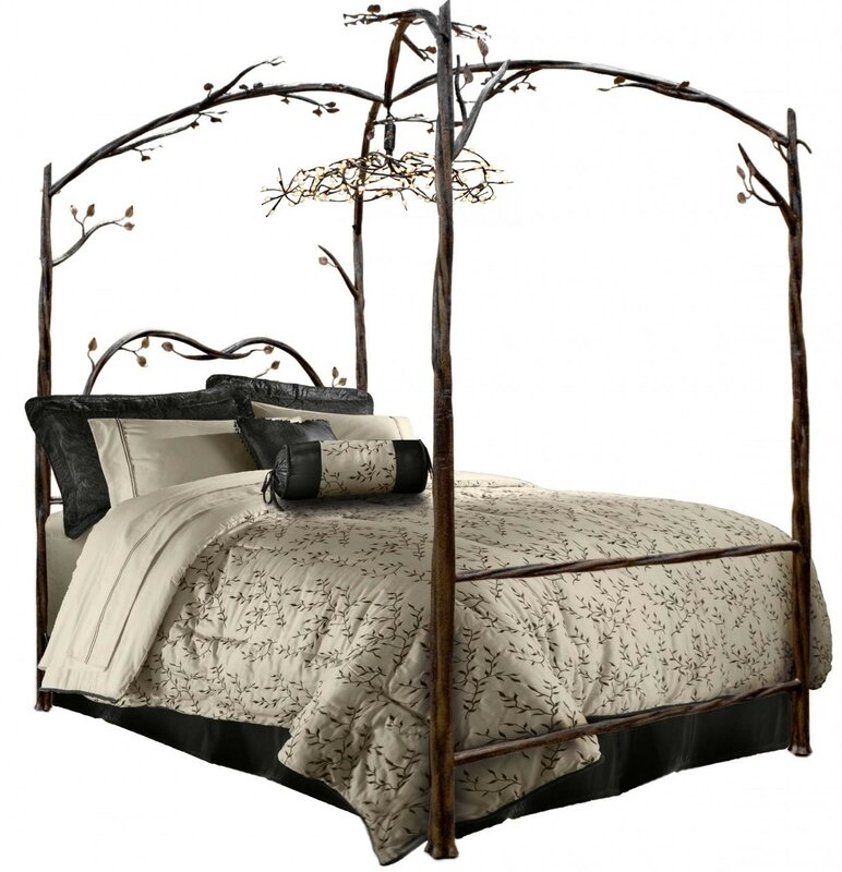 Enchanted Queen Canopy Bed  sc 1 st  Wayfair & Stone County Ironworks Enchanted Queen Canopy Bed u0026 Reviews | Wayfair