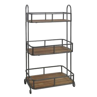 Cheungs 3 Tier Wood Top Storage Shelving Unit
