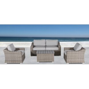Rosecliff Heights Huddleson 5 Piece Sectional Seating Group with Cushions