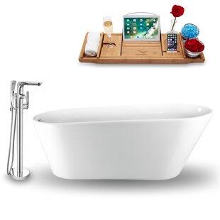 65 x 30 Freestanding Soaking Bathtub with Tray