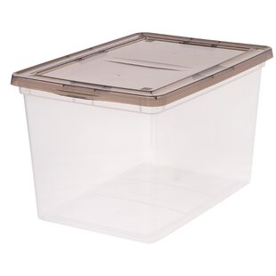68 Quart Plastic Storage Box  sc 1 st  Wayfair & Clear Plastic Storage Boxes | Wayfair