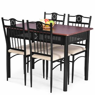 Ganya 5 Piece Dining Set