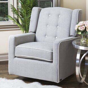 Harriet Bee Crandell Swivel Glider with Piping