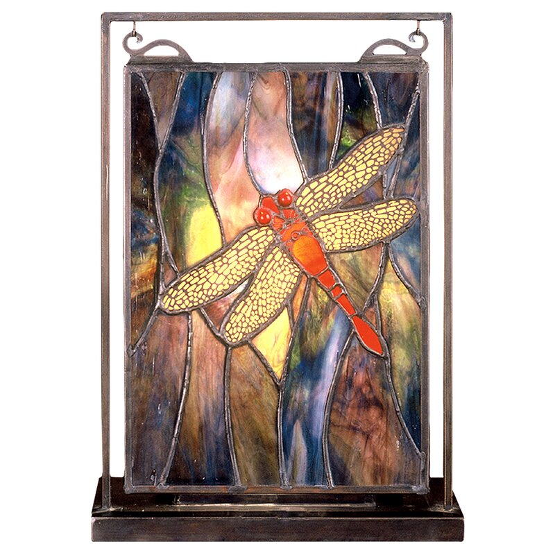 Astoria Grand Mattis Insects Tiffany Dragonfly Lighted Mini Window Panel Reviews Wayfair