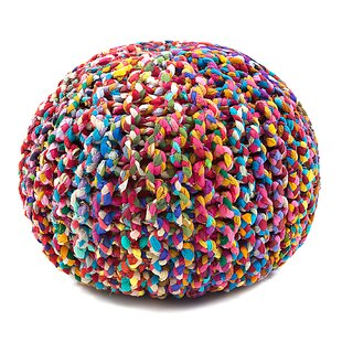 Abdoulaye Rainbow Connection Pouf by Bungalow Rose