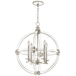 Fine Art Lamps Grosvenor Square/Rectangle 4-Light Globe Chandelier