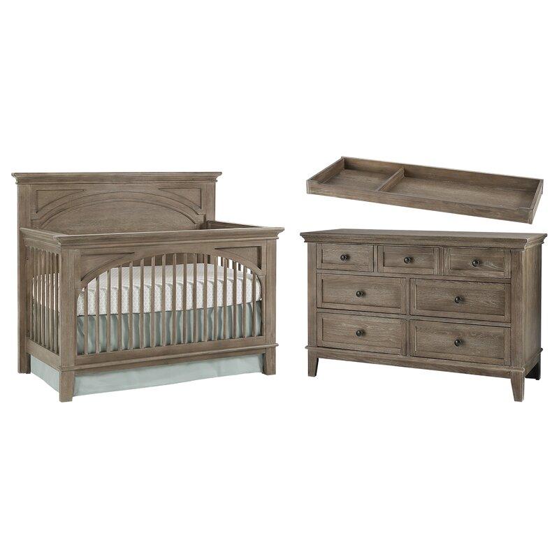 Three Posts Baby & Kids North Andover Convertible 3-Piece Nursery
