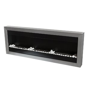 Square XL II Stainless Steel Ventless Wall Mounted Ethanol Fireplace by Bio-Blaze