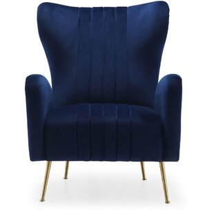 Save  sc 1 st  Wayfair : blue velvet wingback chair - Cheerinfomania.Com