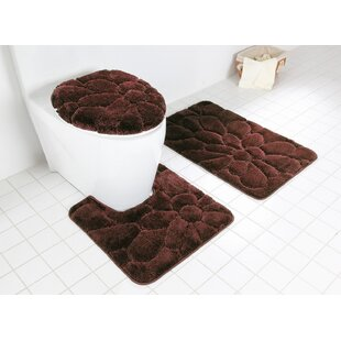 Chatteris 3 Piece Sunflower Bath Rug Set
