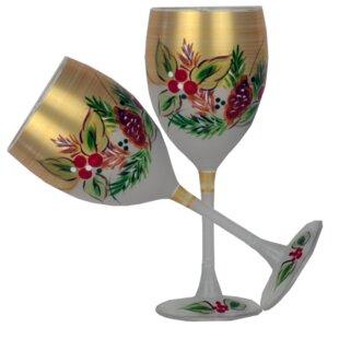 Deals Ducharme 11 oz. Stemmed Wine Glass (Set of 2) ByThe Holiday Aisle