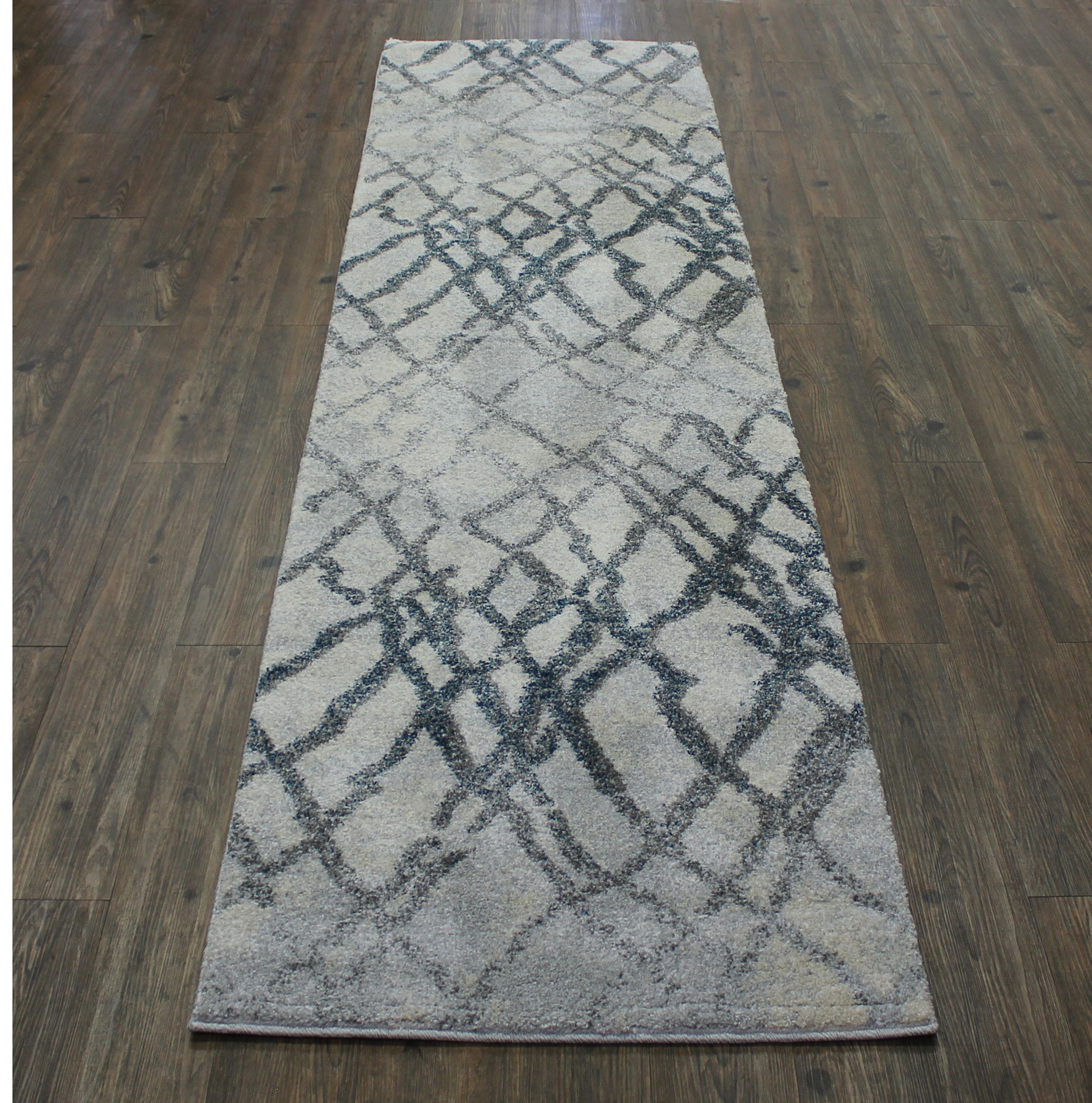 Hallway Runner Rug Grey Silver Tan 100 Polypropylene Made In Turkey