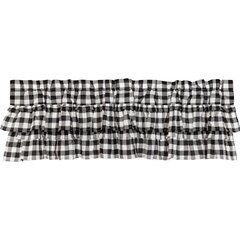 Black and White Racing Check Curtain Valance