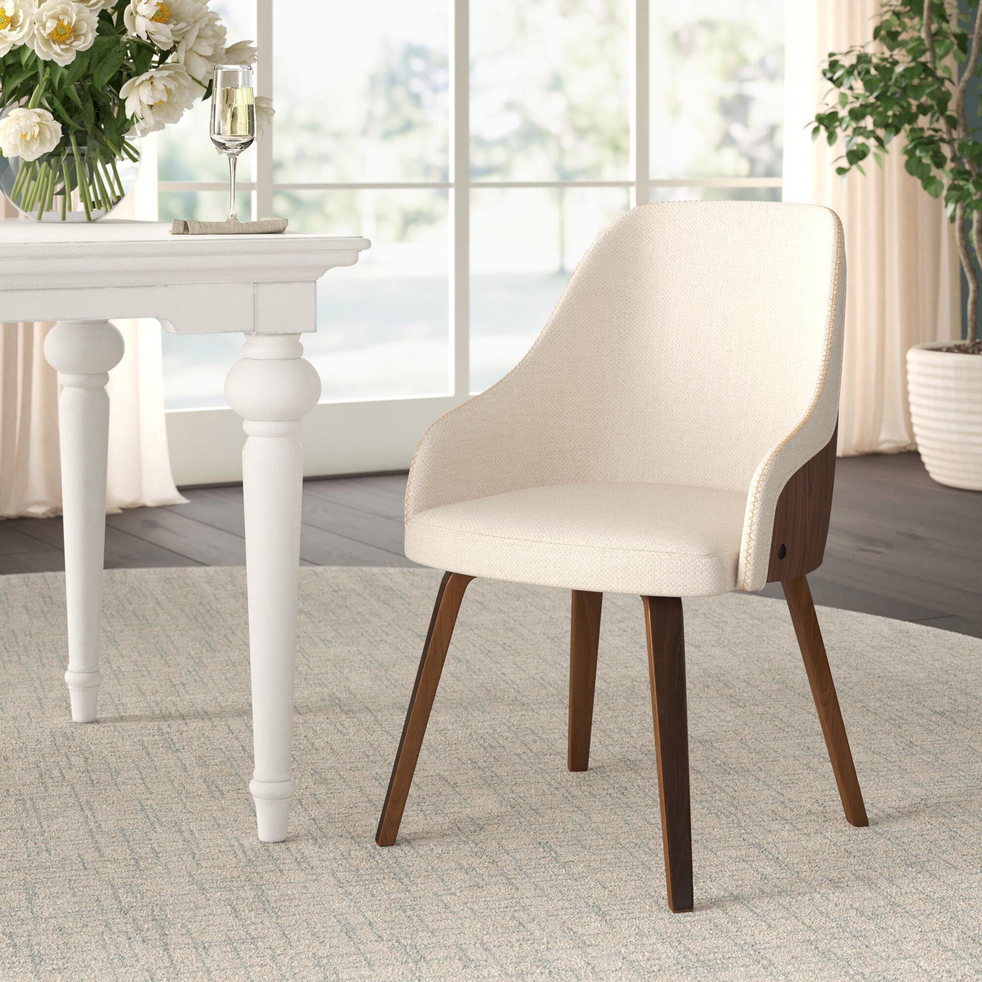 Marius Mid Century Modern Upholstered Dining Chair Reviews Joss Main